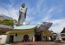 japan nagasaki Fukusai tempel Royaltyfria Bilder
