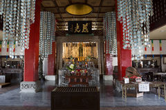 japan nagasaki I den Fukusai templet Arkivbild
