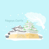 Japan nagoya castle in winter Royalty Free Stock Photos
