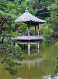 Japan. Narita. pavilion on the lake in park Stock Images