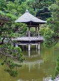japan Narita pavillon sur le lac en parc images stock