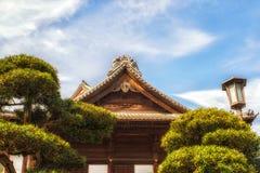 Japan Narita, tempeltakdetalj Arkivbild