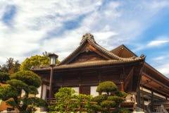 Japan Narita, tempeltakdetalj Royaltyfria Foton