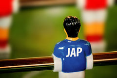 Japan National Jersey on Vintage Foosball, Table Soccer Game Stock Images