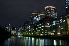 japan natt tokyo Royaltyfri Fotografi