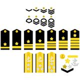 Japan Navy insignia. Military ranks and insignia of the world. Illustration on white background Royalty Free Stock Photo