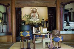 Japan,  near Arashiyama, city park with Buddha. Near Arashiyama, city park with Buddha Stock Photo