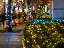 Japan Night view illumination Tokyo stock images
