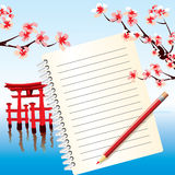 Japan notebook Royalty Free Stock Photos