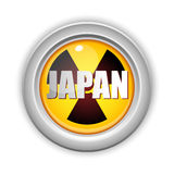 Japan Nuclear Disaster Button Stock Photos