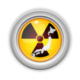 Japan Nuclear Disaster Button Stock Image