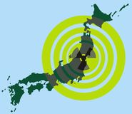 Japan and nuclear energy Royalty Free Stock Photo