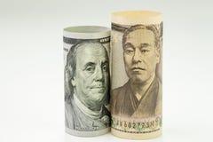 Japan och USA, enigt begrepp för länder för värld för för tillståndsAmerika förhållande eller nationalekonomi viktigt, sedel för  arkivbild