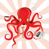 Japan octopus sushi feast Royalty Free Stock Image