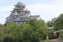 Japan : Okayama Castle Royalty Free Stock Photography
