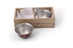 Japan old cup set for sake in military style Royalty Free Stock Image