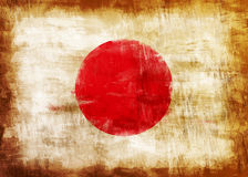 Japan old painted flag Stock Images