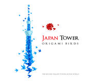 Japan origami tower Royalty Free Stock Photo