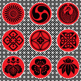 Japan ornament elements Royalty Free Stock Image