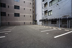 Japan Osaka Empty parking lot Stock Photo