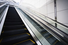 Japan Osaka JR Station man on top of escalator Royalty Free Stock Image