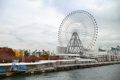 Japan Osaka Tempozan Ferris Wheel stock photo