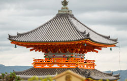 Japan pagoda closeup over sky Stock Images