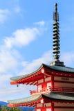 Japan Pagoda roof from chureito pagada at Kawaguchiko city Royalty Free Stock Image