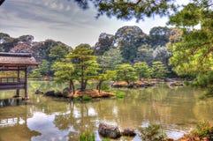 Japan park. View for lake in Kioto park Stock Photo