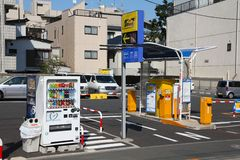 Japan parking Stock Image