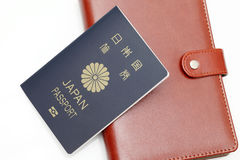 Japanese passport isolated on white background Royalty Free Stock Photo