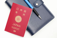 Japanese passport isolated on white background Stock Images