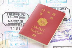 Japan passport royalty free stock photography