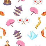 Japan pattern, cartoon style Stock Photos