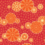 Japan pattern with flowers Stock Image