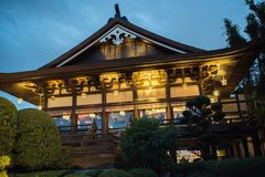 Japan Pavilion at Epcot. Orlando, Florida: December 4, 2017: Japan Pavilion  at Epcot at Walt Disney World.  Epcot opened in October 1, 1982 Stock Images
