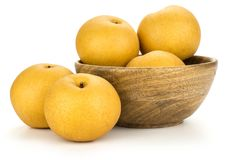 Japan pear nashi isolated on white royalty free stock images