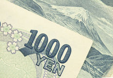 Japan pengar 1000 yenräkningar Royaltyfria Bilder