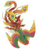 Japan Phoenix stock illustrationer