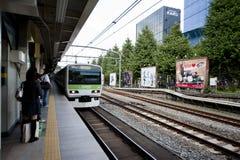 japan platformy pociąg zdjęcie stock