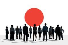 Japan Pride Unity Concept för Japan flaggapatriotism Arkivfoto