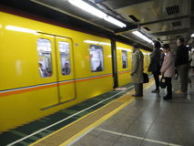 Japan public transpotation in tokyo Royalty Free Stock Images