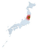 Japan radioactive hazard. Stock Photos
