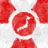 Japan radioactivity dangerous Royalty Free Stock Image