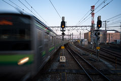 Japan rail system for mass transportation.  royalty free stock images