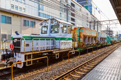 Japan Railway Company`s track maintainance train Stock Images