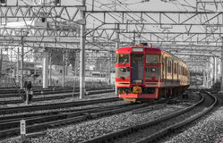 Japan Railway. Converted to black and red Royalty Free Stock Photography
