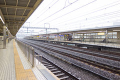 Japan railway in Tokyo, Japan Royalty Free Stock Photography