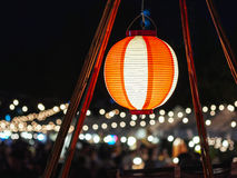 Japan Red Lantern decoration Outdoor Festival Event Background Stock Photography