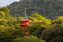Japan red pagoda Stock Photos
